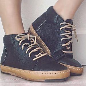 Shoes - J Shoes Triffid Black Leather High Top Shoe